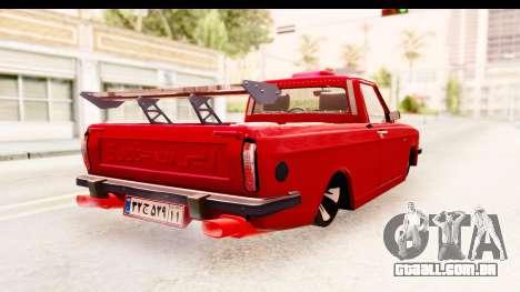 Peykan Pickup Full Sport Iranian para GTA San Andreas vista direita