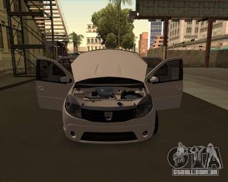 Dacia Logan Londero Misterios Urechiata para GTA San Andreas traseira esquerda vista