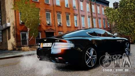 Aston Martin DB9 2013 para GTA 4 esquerda vista