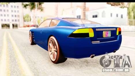 GTA EFLC TBoGT F620 v2 para GTA San Andreas vista direita