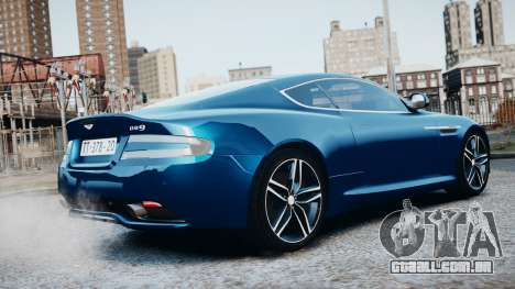 Aston Martin DB9 2013 para GTA 4 vista superior