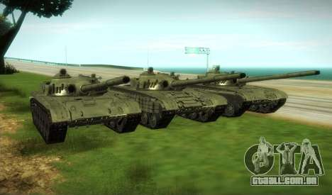 T-72 Modificado para GTA San Andreas vista traseira