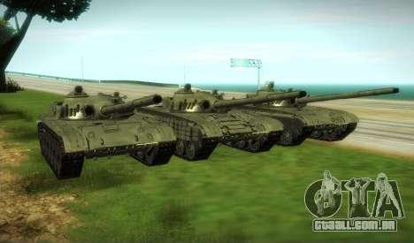 T-72 Modificado para GTA San Andreas vista traseira