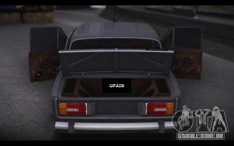 VAZ 2106 Carro de Som para GTA San Andreas esquerda vista