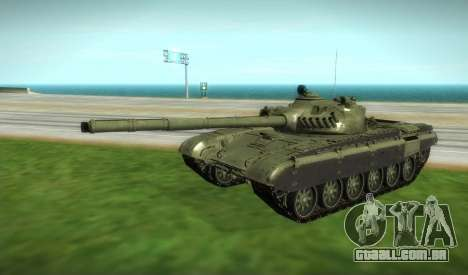 T-72 Modificado para GTA San Andreas vista direita