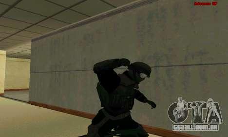 Pele FIB SWAT de GTA 5 para GTA San Andreas oitavo tela