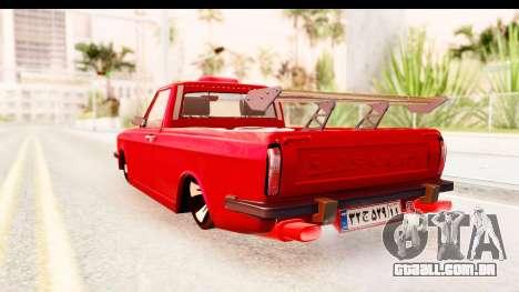 Peykan Pickup Full Sport Iranian para GTA San Andreas esquerda vista