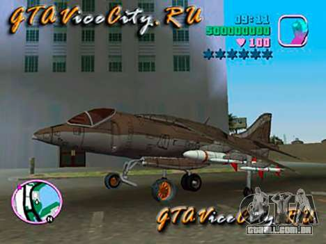 Harrier para GTA Vice City vista traseira esquerda