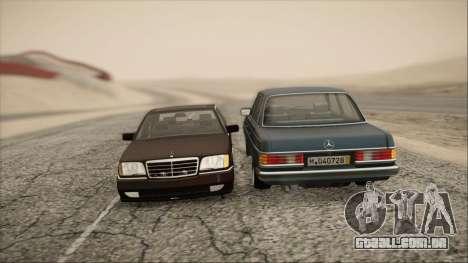 Mercedes-Benz s600 AMG para GTA San Andreas vista traseira