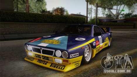 Lancia Rally 037 Stradale (SE037) 1982 Dirt PJ1 para GTA San Andreas traseira esquerda vista