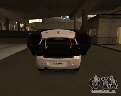 Dacia Logan Londero Misterios Urechiata para GTA San Andreas vista direita