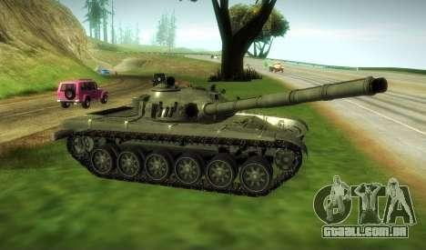 T-72 Modificado para GTA San Andreas traseira esquerda vista