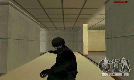 Pele FIB SWAT de GTA 5 para GTA San Andreas sétima tela