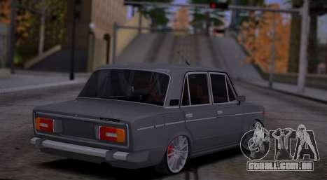 VAZ 2106 Carro de Som para GTA San Andreas vista direita