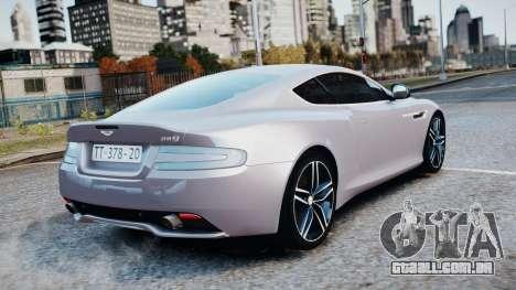 Aston Martin DB9 2013 para GTA 4 vista lateral
