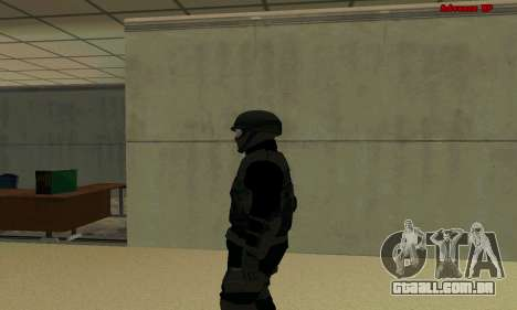 Pele FIB SWAT de GTA 5 para GTA San Andreas segunda tela