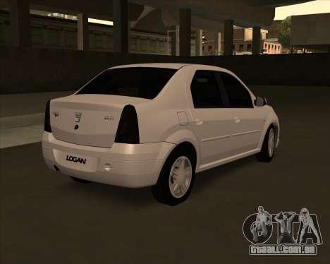 Dacia Logan Londero Misterios Urechiata para GTA San Andreas esquerda vista