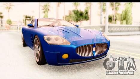 GTA EFLC TBoGT F620 v2 para GTA San Andreas traseira esquerda vista