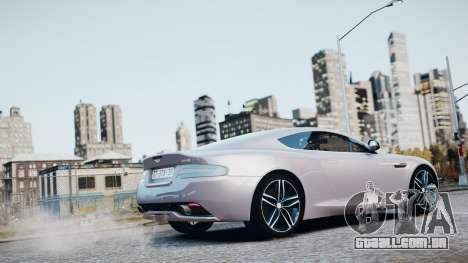 Aston Martin DB9 2013 para GTA 4 interior