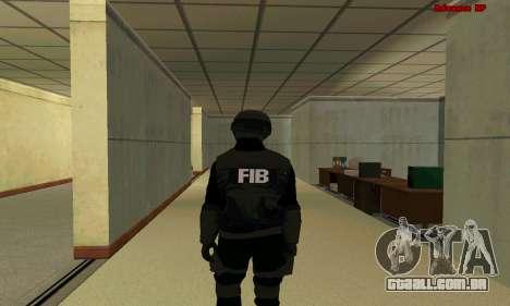 Pele FIB SWAT de GTA 5 para GTA San Andreas terceira tela