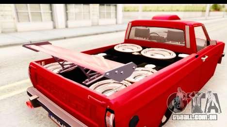 Peykan Pickup Full Sport Iranian para GTA San Andreas vista interior