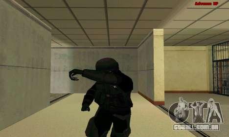 Pele FIB SWAT de GTA 5 para GTA San Andreas sexta tela
