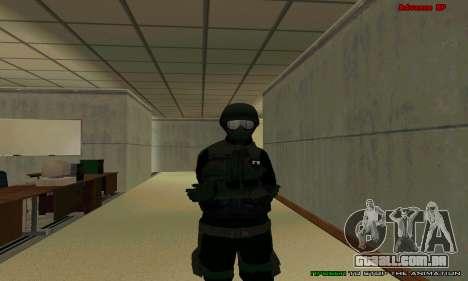 Pele FIB SWAT de GTA 5 para GTA San Andreas décimo tela