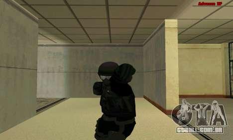 Pele FIB SWAT de GTA 5 para GTA San Andreas quinto tela