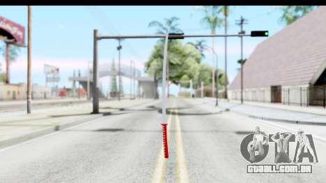 Katana from GTA Advance para GTA San Andreas terceira tela