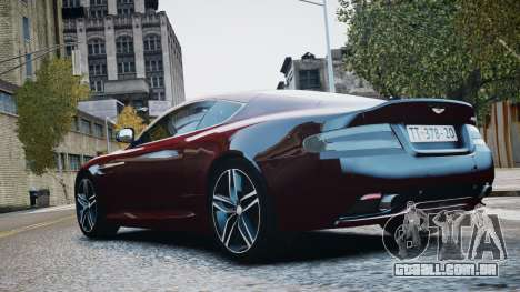 Aston Martin DB9 2013 para GTA 4 vista interior