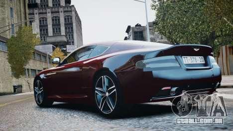 Aston Martin DB9 2013 para GTA 4 vista interior