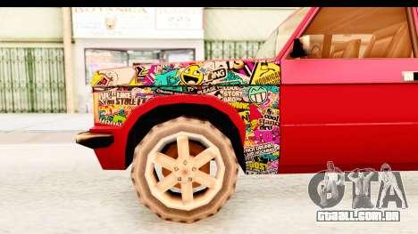 Huntley Sticker Bomb para GTA San Andreas vista traseira