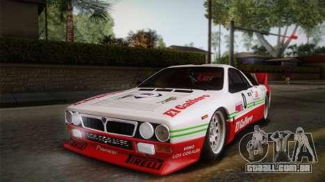 Lancia Rally 037 Stradale (SE037) 1982 Dirt PJ1 para GTA San Andreas vista direita