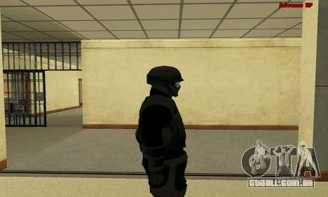 Pele FIB SWAT de GTA 5 para GTA San Andreas por diante tela