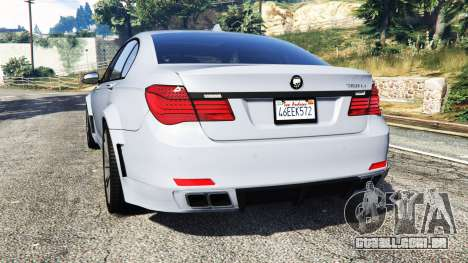 GTA 5 BMW 760Li (F02) Lumma CLR 750 [replace] traseira vista lateral esquerda