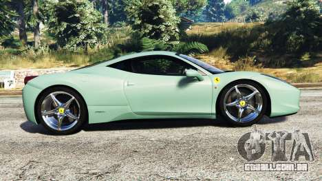 GTA 5 Ferrari 458 Italia [replace] vista lateral esquerda