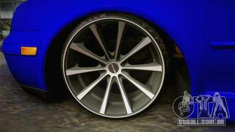 Volkswagen Golf para GTA San Andreas traseira esquerda vista