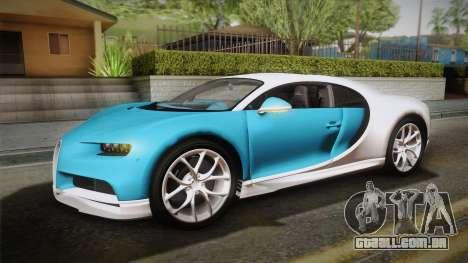 Bugatti Chiron 2017 v2.0 Dubai Plate para GTA San Andreas vista interior