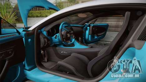 Bugatti Chiron 2017 v2.0 Dubai Plate para GTA San Andreas vista traseira