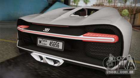 Bugatti Chiron 2017 v2.0 Dubai Plate para GTA San Andreas