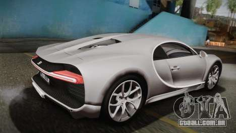 Bugatti Chiron 2017 v2.0 Dubai Plate para GTA San Andreas esquerda vista