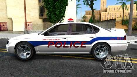 Declasse Merit Metropolitan Police 2005 para GTA San Andreas esquerda vista