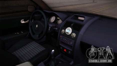 Renault Megane Sedan para GTA San Andreas vista interior