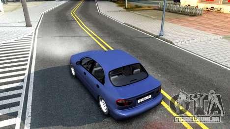 Daewoo Lanos para GTA San Andreas vista traseira