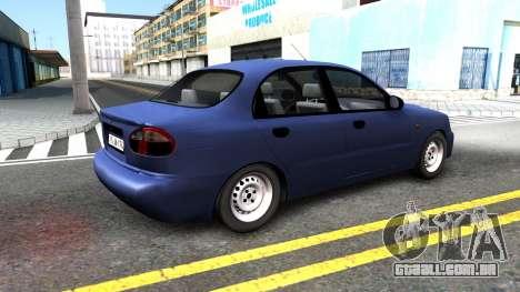 Daewoo Lanos para GTA San Andreas traseira esquerda vista