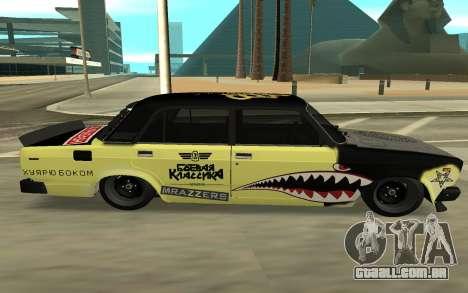 CAÇADOR 2105 DERIVA, EDIÇÃO para GTA San Andreas traseira esquerda vista