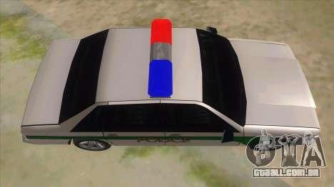 1992 Declasse Premier Angel Pine PD para GTA San Andreas vista interior