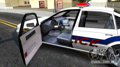 Declasse Merit Metropolitan Police 2005 para GTA San Andreas vista interior