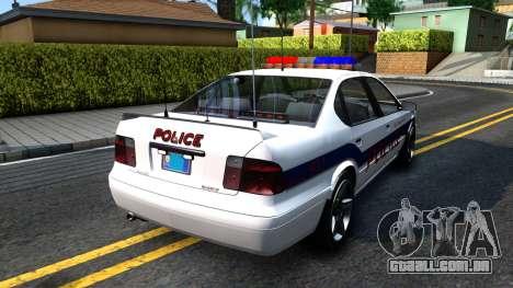 Declasse Merit Metropolitan Police 2005 para GTA San Andreas traseira esquerda vista