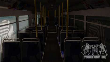 GTA V Transit Bus para GTA San Andreas vista interior